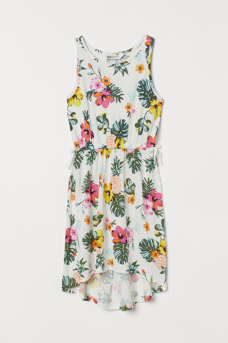 H & M - 平紋縐紗洋裝 - 白色