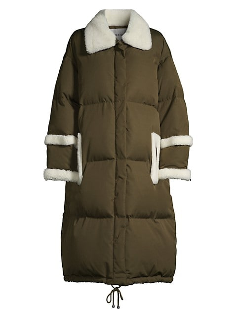 Gloria Faux Fur-Trimmed Quilted Coat