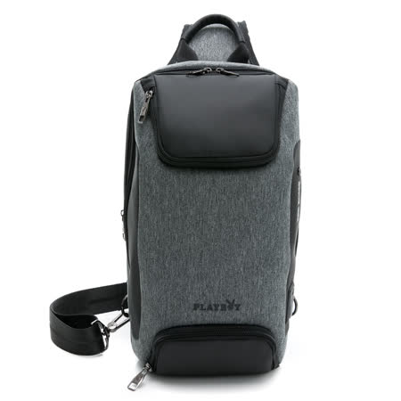 PLAYBOY - 單肩背包 灰色經典系列 - 灰色