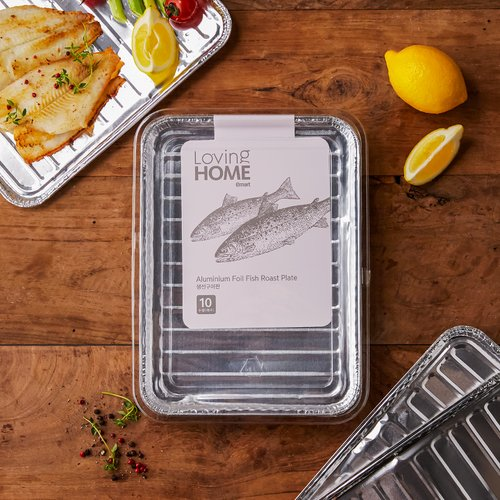 [LOVING HOME] Aluminium Foil Fish Roast Plate 10p