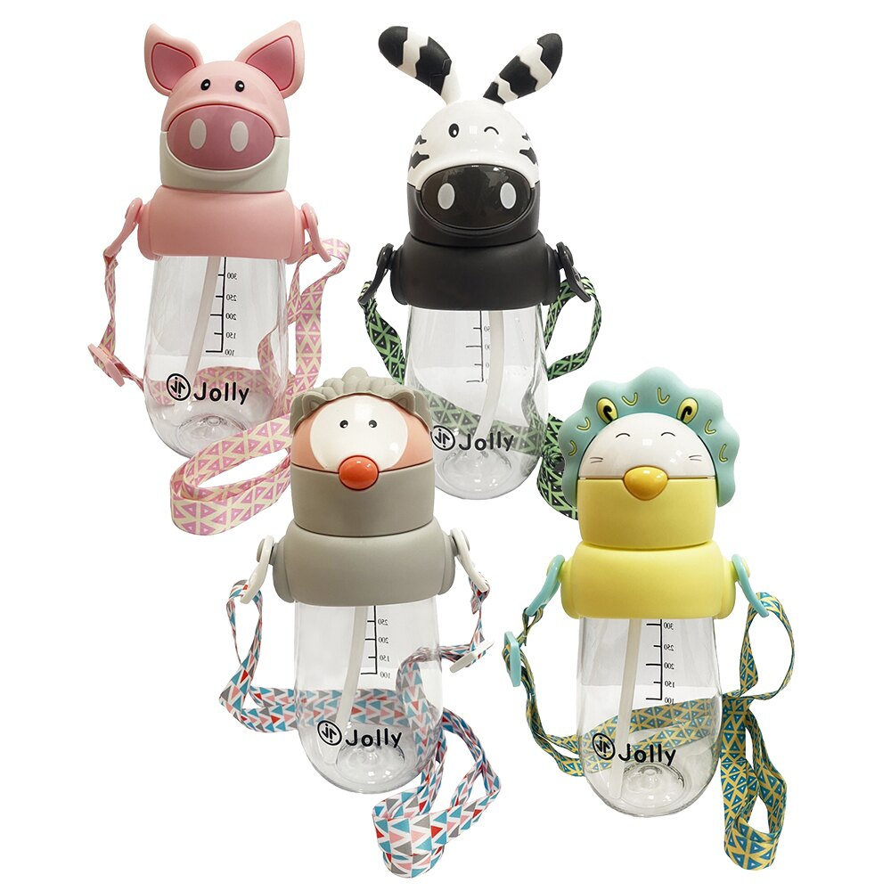 Jolly 動物水杯 490ml (刺蝟/藍獅/粉豬/斑馬)【甜蜜家族】