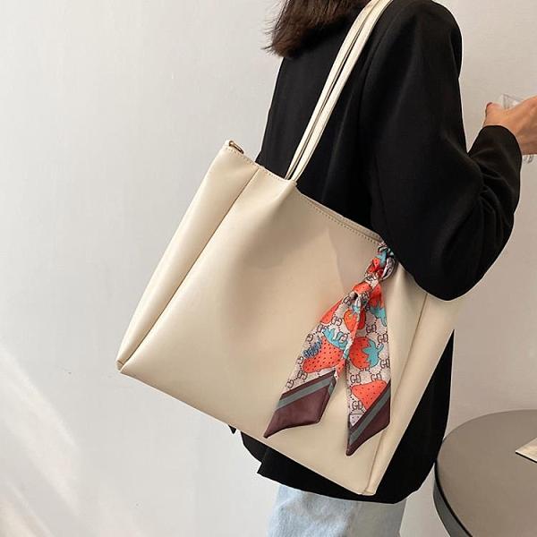 托特包 通勤大容量托特包包2021新款時尚網紅側背斜背包女包大學生上課包 寶貝