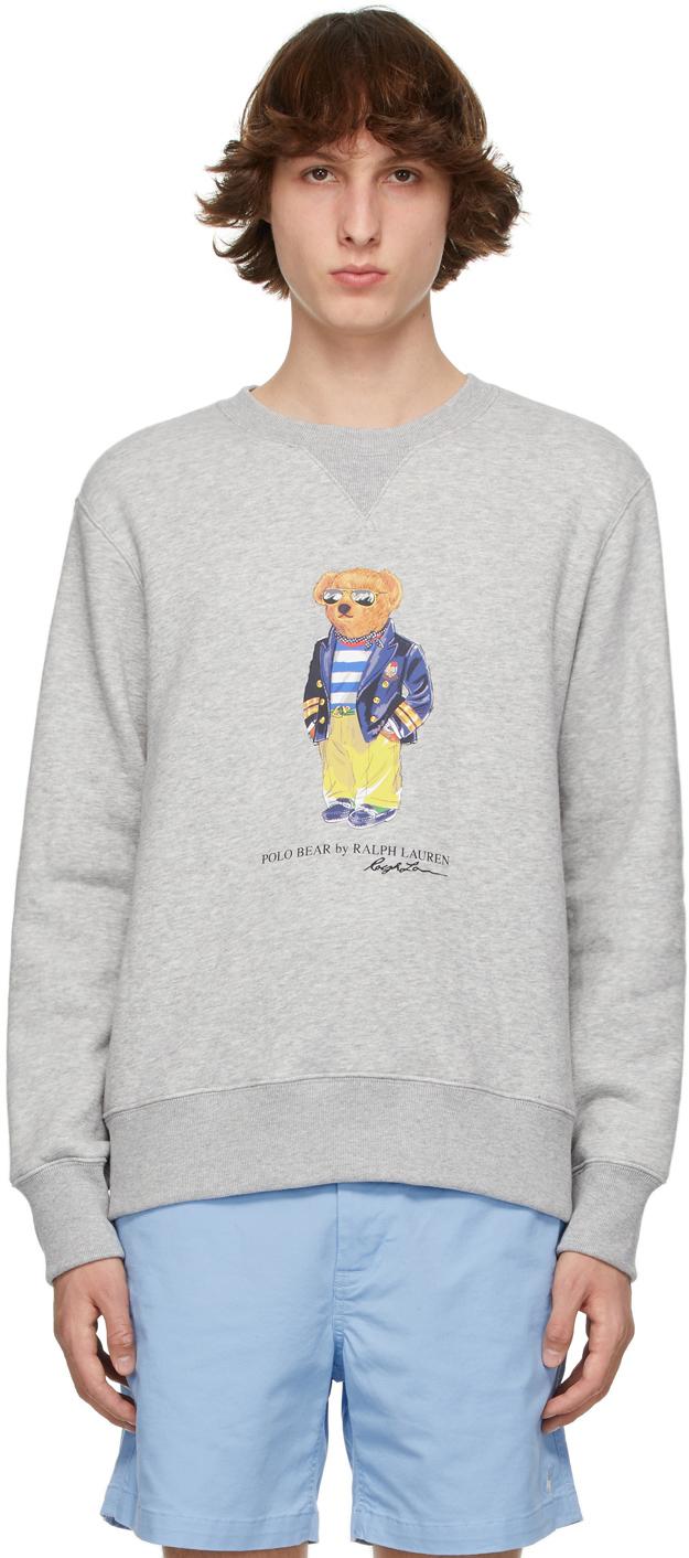 Polo Ralph Lauren 灰色 Polo Bear 套头衫