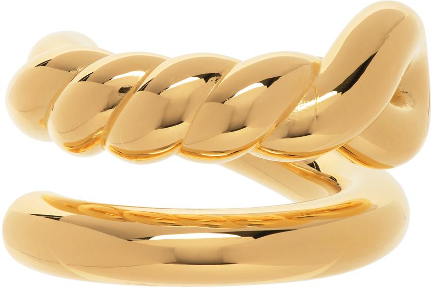 Bottega Veneta 金色结饰戒指