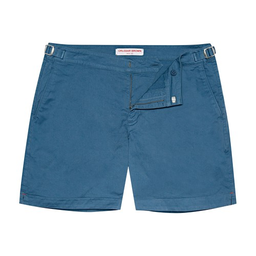 Bulldog Cotton Twill Pebble Mid-Length Shorts