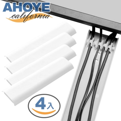 Ahoye 白色牆面整線器 30cm-4入裝 理線器 電線收納 線材整理 電線保護套