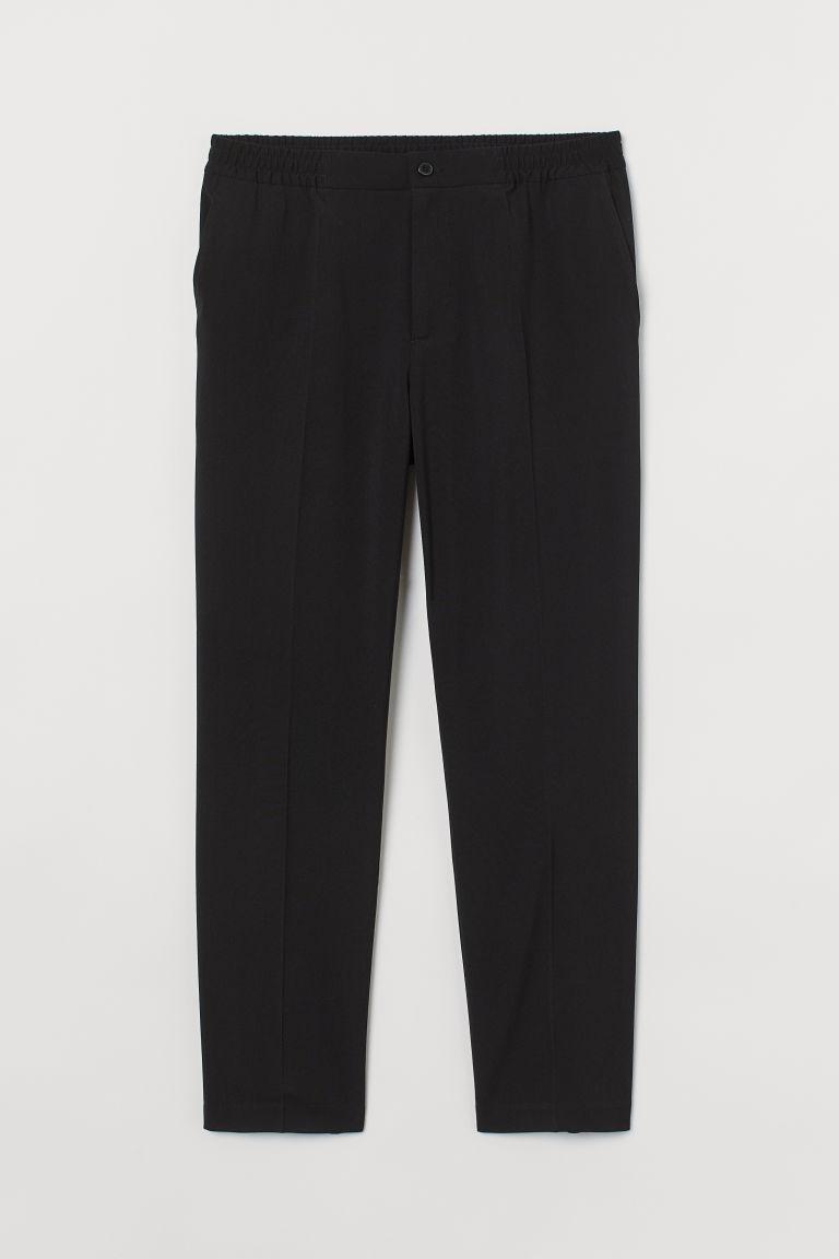 H & M - 合身正式風慢跑褲 - 黑色