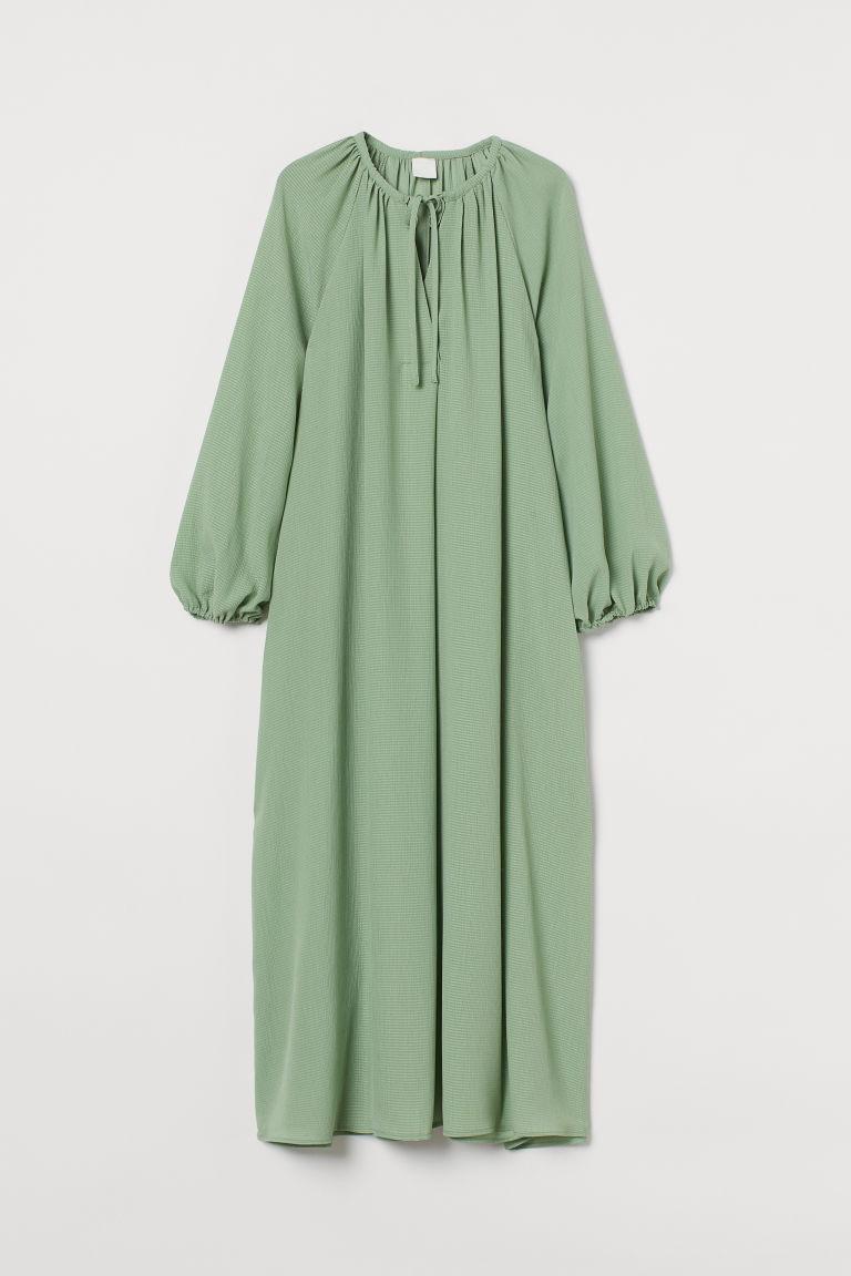 H & M - 中長版洋裝 - 綠色