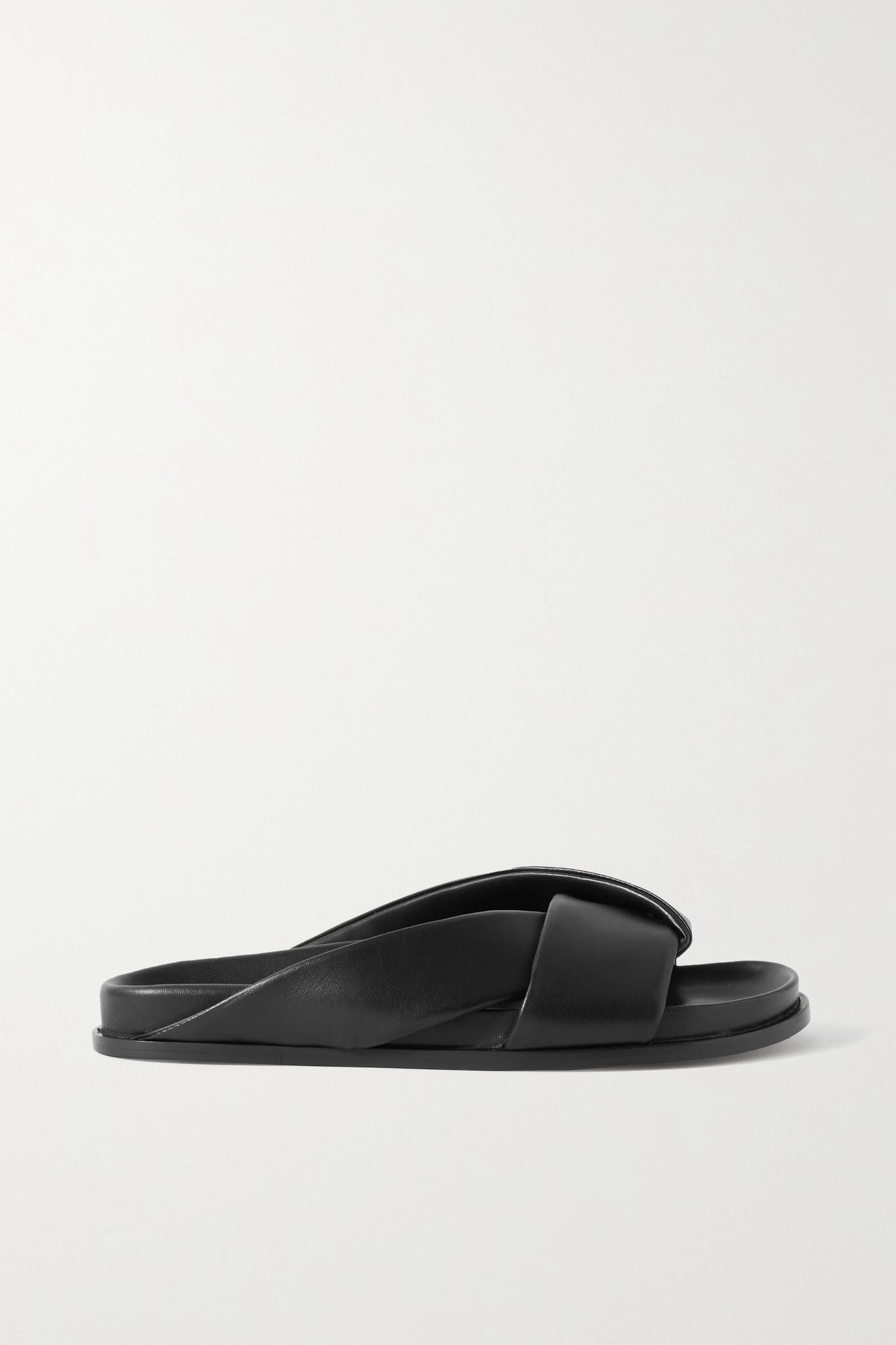 EMME PARSONS - 皮革拖鞋 - 黑色 - IT37