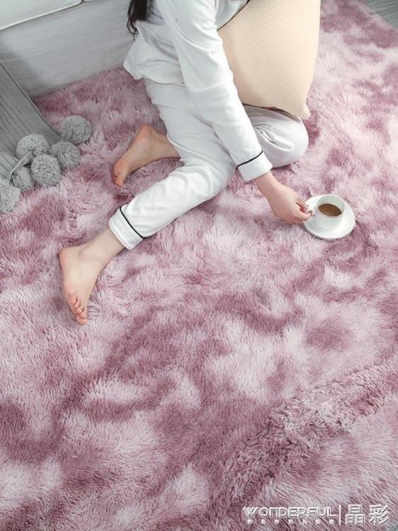 地毯北歐ins地毯客廳茶幾臥室滿鋪可愛網紅同款床邊毛毯地墊墊子家用LX