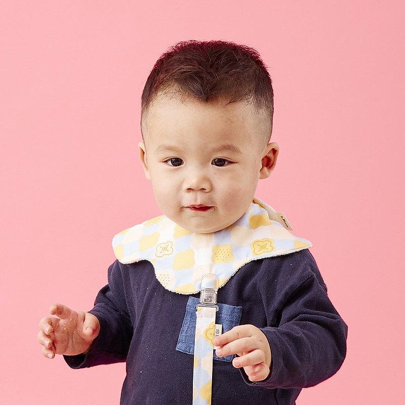 花瓣口水巾/玻璃海棠2號/俏皮黃藍