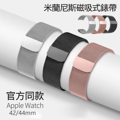 HALD 蘋果 Apple watch1/2/3/4 米蘭尼斯金屬錶帶 磁吸式 替換帶 舒適透氣