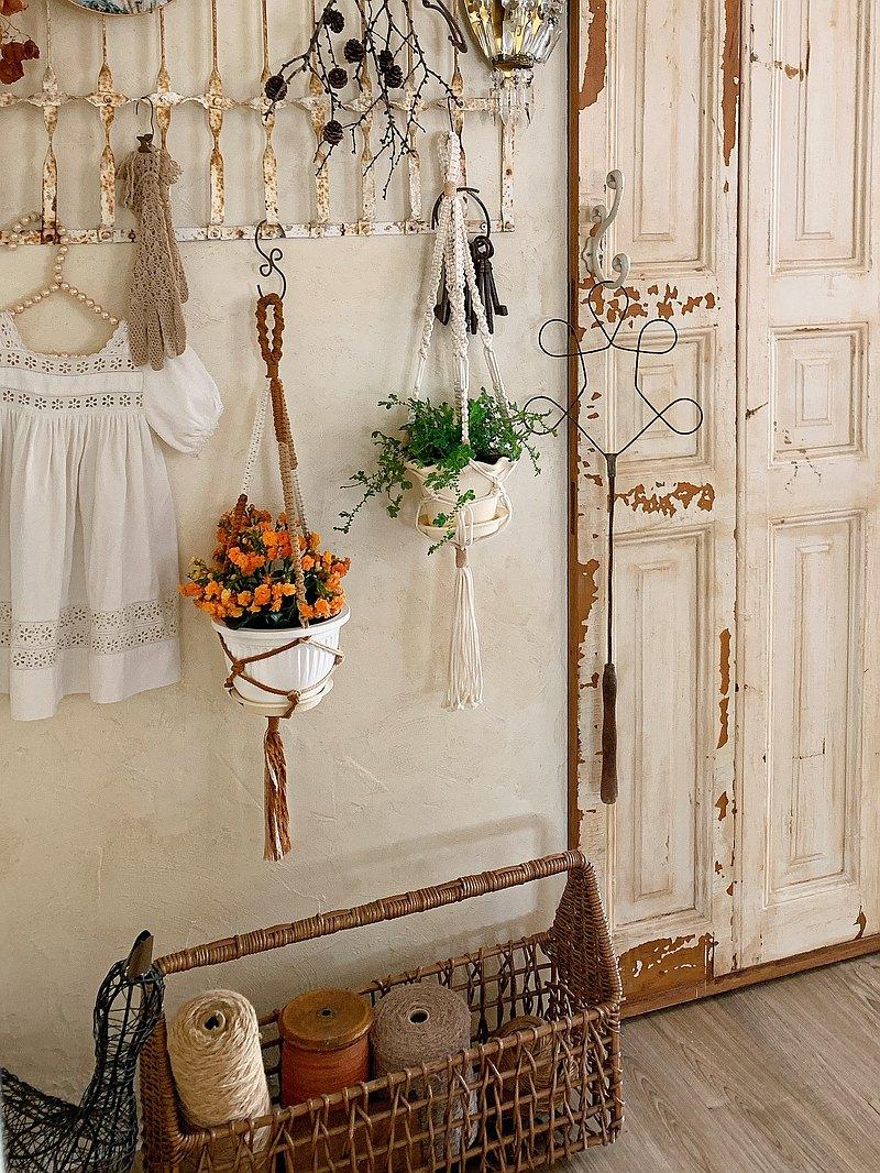 5月 編織植物吊籃課程 初階課程就能完成美麗編織作品