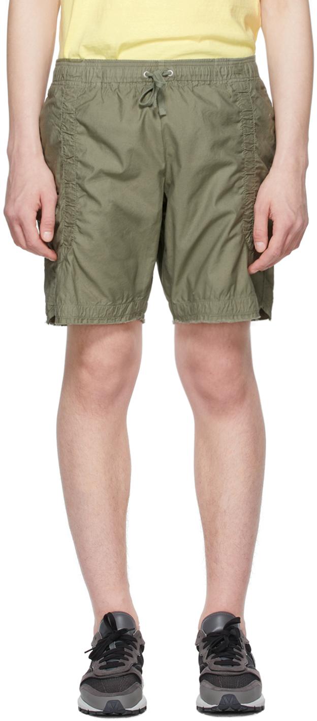John Elliott 军绿色 Frame 短裤
