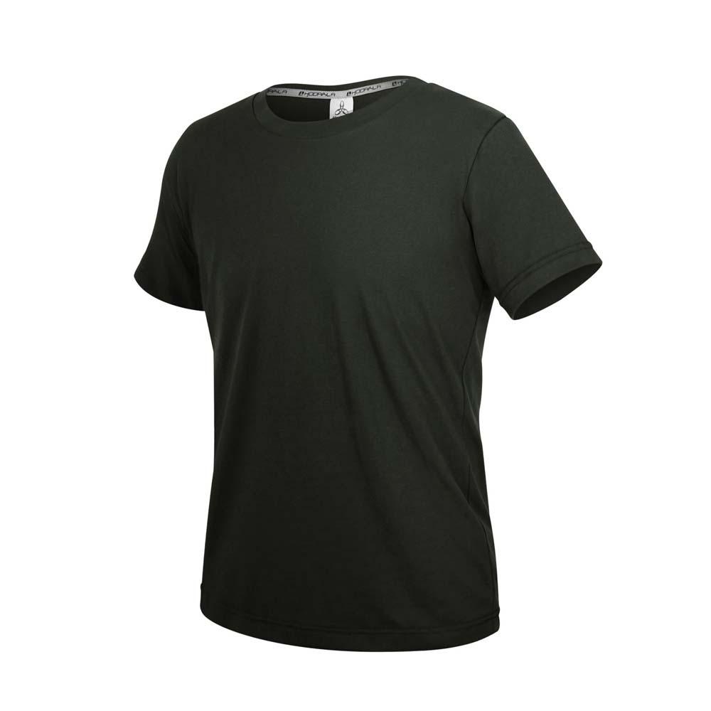 HODARLA ZERO DRY男機能排汗棉短袖T恤-台灣製 抗UV 反光 上衣 慢跑 黑