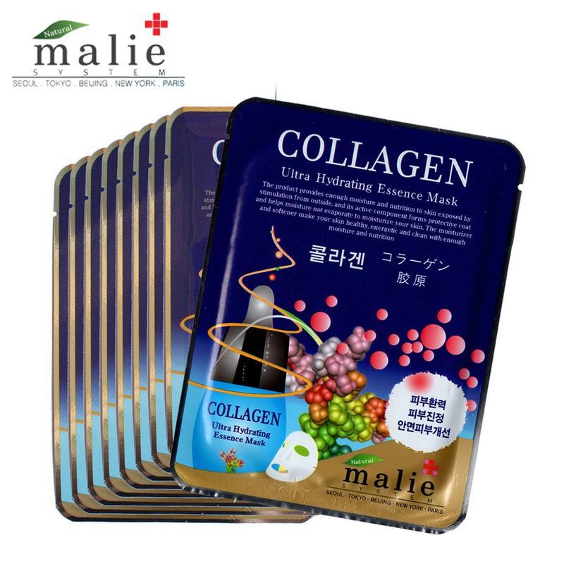 malie媄莉 保濕精華面膜-膠原10入
