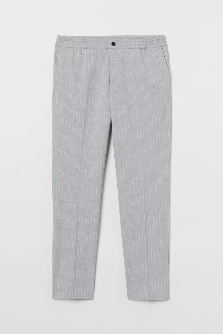 H & M - 合身正式風慢跑褲 - 灰色