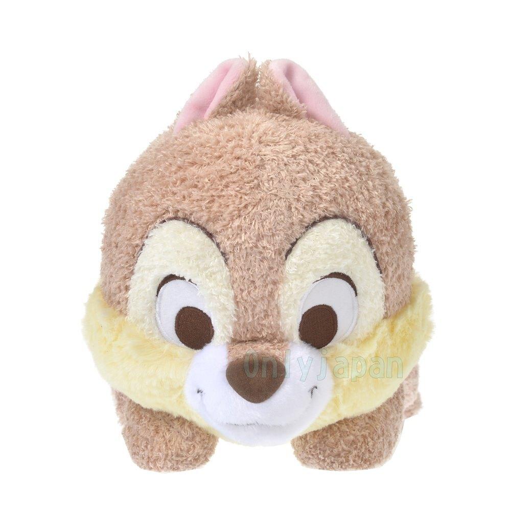 日本迪士尼專賣店 棉柔絨毛趴姿娃 奇奇 花栗鼠 松鼠 迪士尼 娃娃 玩偶 布偶 收藏 擺設 真愛日本