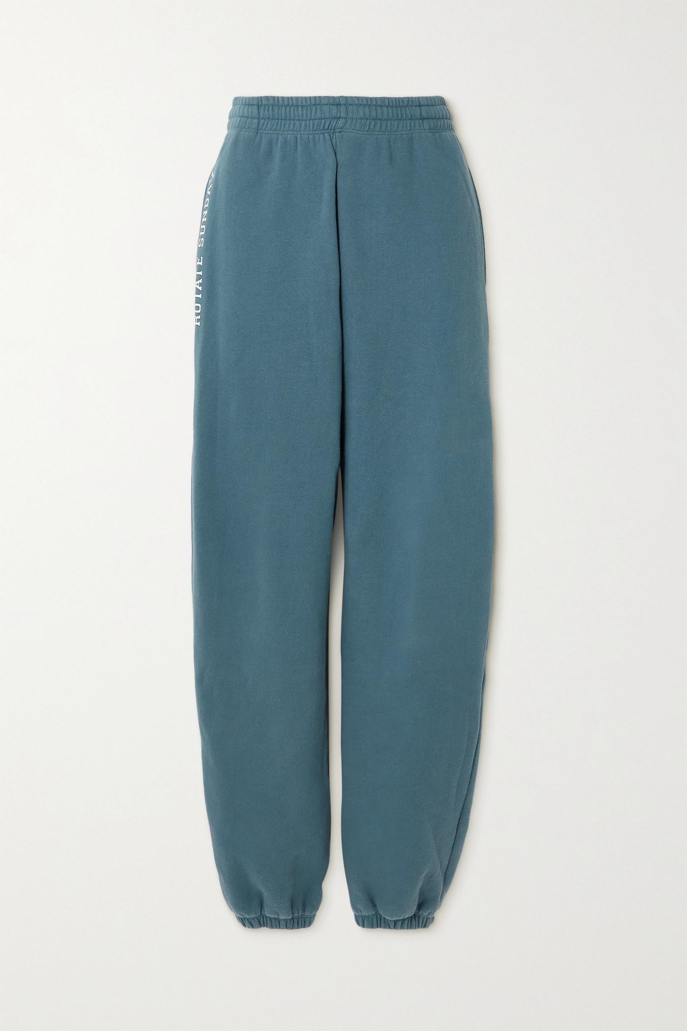ROTATE BIRGER CHRISTENSEN - 【net Sustain】sunday Mimi 印花有机纯棉平纹布休闲裤 - 蓝色 - medium