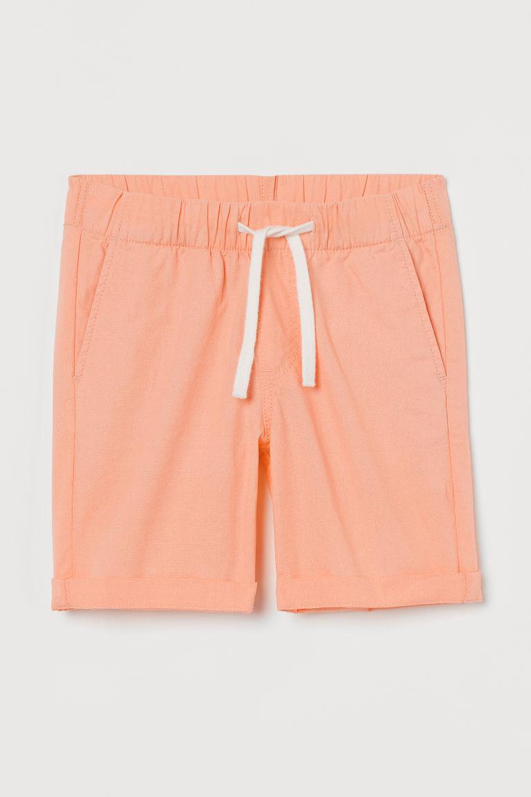 H & M - 棉質短褲 - 橙色