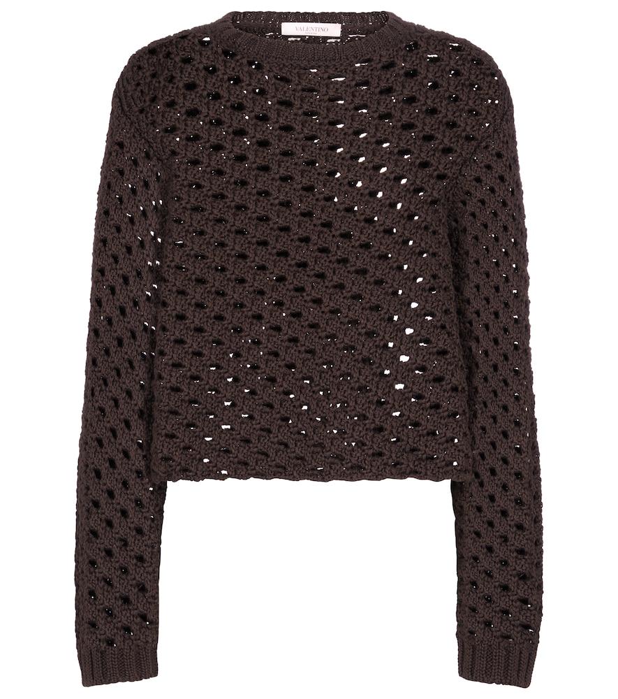 Valentino open-knit cotton sweater