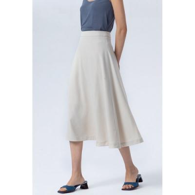 氣質優雅高腰大裙襬純色A字中裙S-XL(共四色)-沐朵