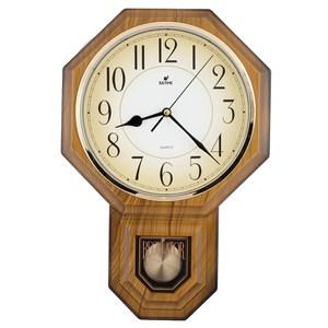 【JUSTIME 鐘情坊】復古典雅八角整點報時擺錘掛鐘/台製漸層仿木紋