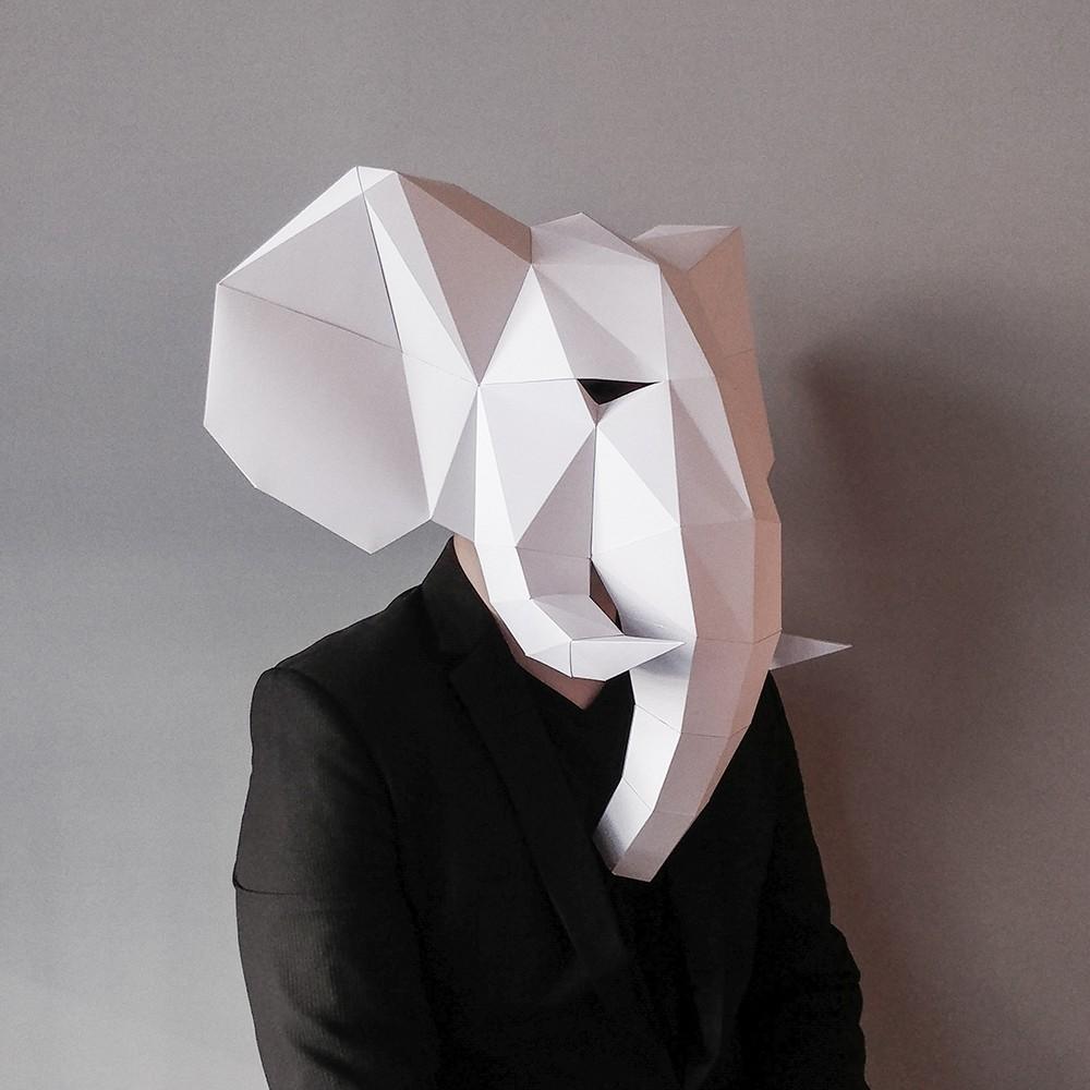 【匠紙Articraft】3D立體紙模型 大象面具_派對Party最亮眼