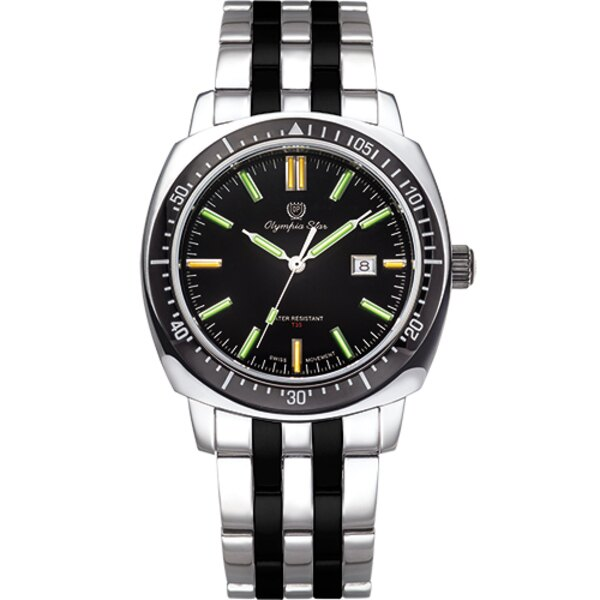 Olympia Star奧林比亞之星 神盾系列氚氣石英腕錶-雙色 98021TGSB