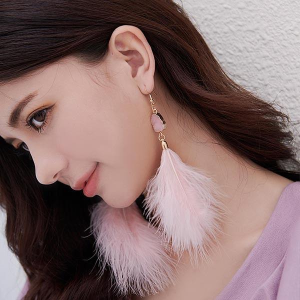 耳環 RCha。個性羽毛耳環-Ruby s 露比午茶