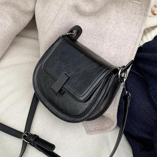 馬鞍包 復古小挎包包女2021春季新款時尚馬鞍包質感休閒包ins側背斜背包 寶貝 免運