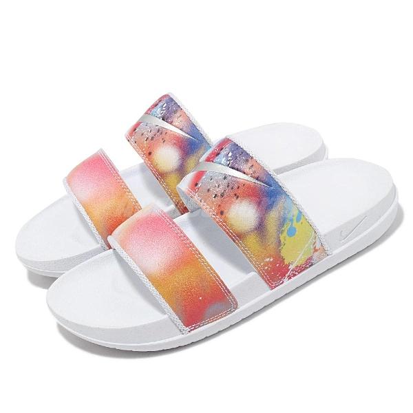 Nike 拖鞋 Wmns Offcourt Duo Slide 白 彩色 雙帶 女鞋 Q彈【ACS】 DJ4282-901