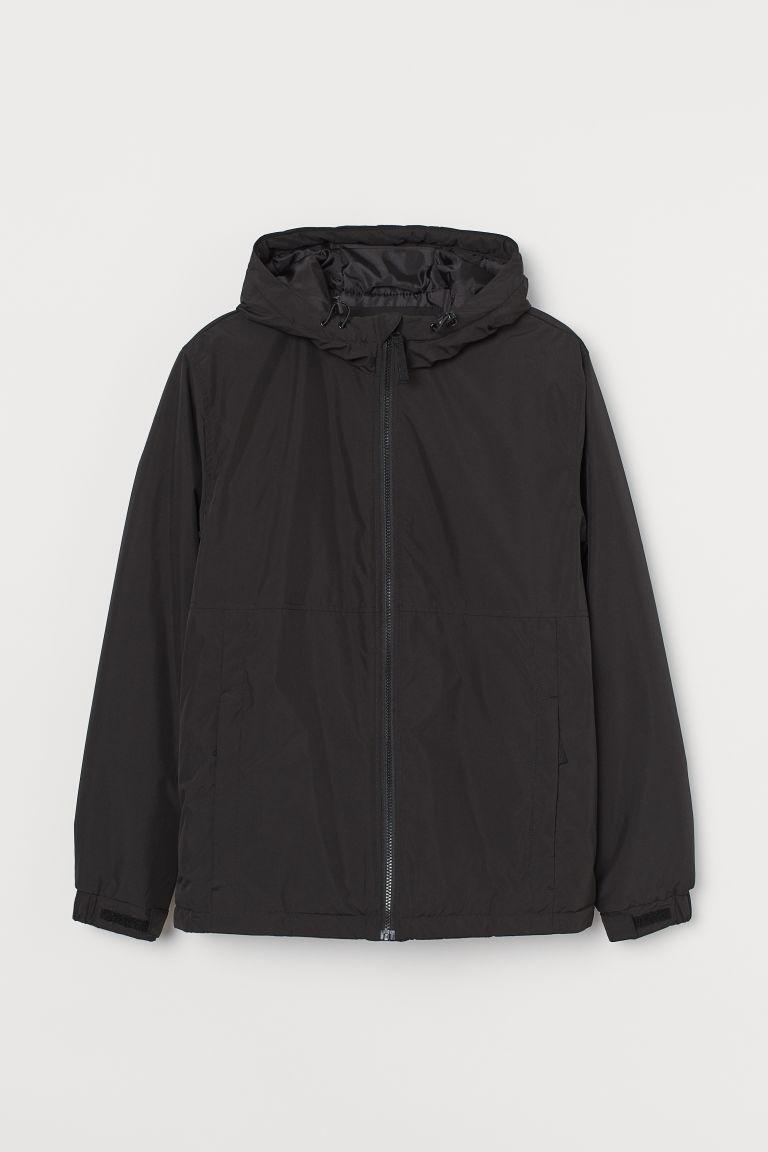 H & M - 防潑水外套 - 黑色