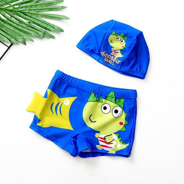 兒童泳裝 男童卡通平角速幹小童寶寶泳衣中大童男孩溫泉【快速出貨】