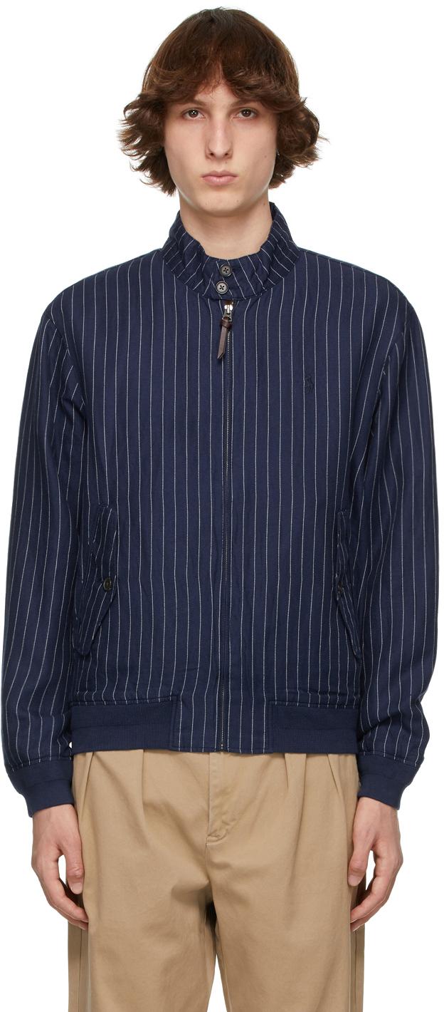 Polo Ralph Lauren 海军蓝条纹夹克