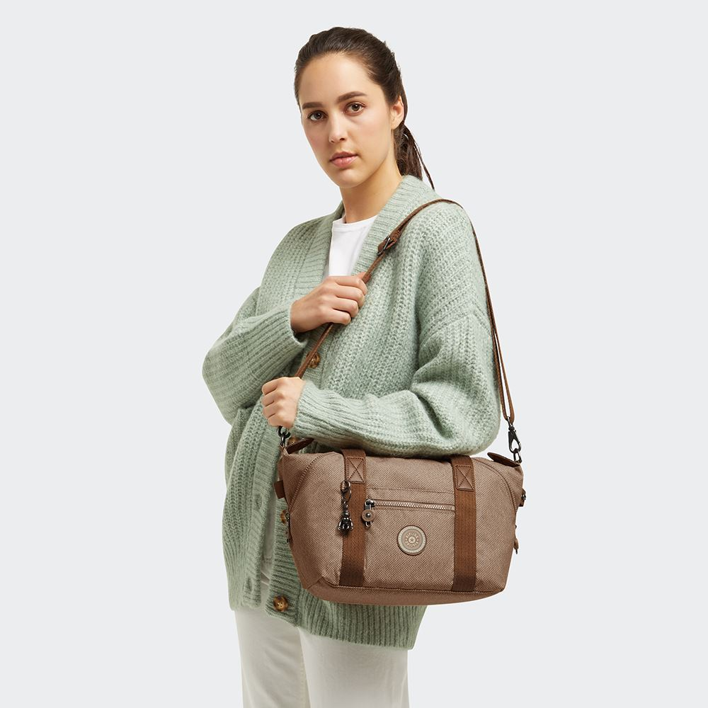 烏龍拿鐵色手提側背包-ART MINI