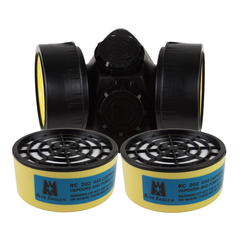 【愛挖寶】藍鷹牌NP-306澳規雙濾罐式防毒口罩搭RC-202濾罐 一般有機氣體/異味 1組NP-306*RC-202