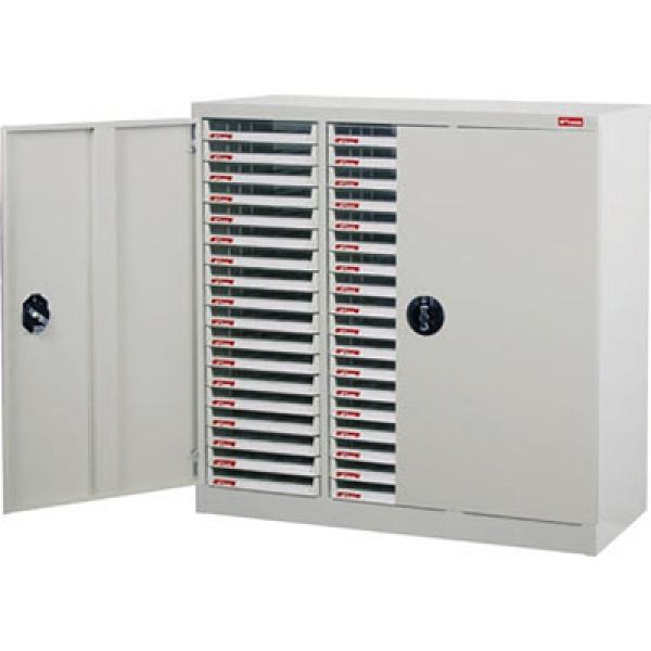 SHUTER 樹德 A4X-354PD 三排落地型加門資料櫃 54抽 880x403x880mm