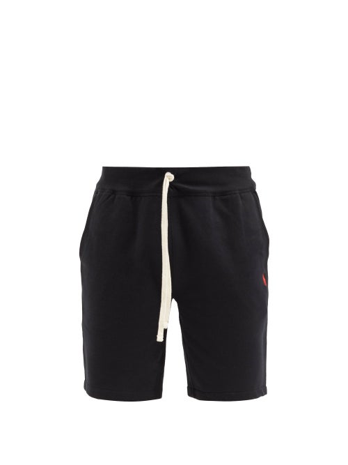 Polo Ralph Lauren - Drawstring Cotton-blend Jersey Shorts - Mens - Black