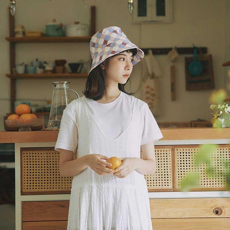 遮陽漁夫帽-玻璃海棠2號/霧花粉