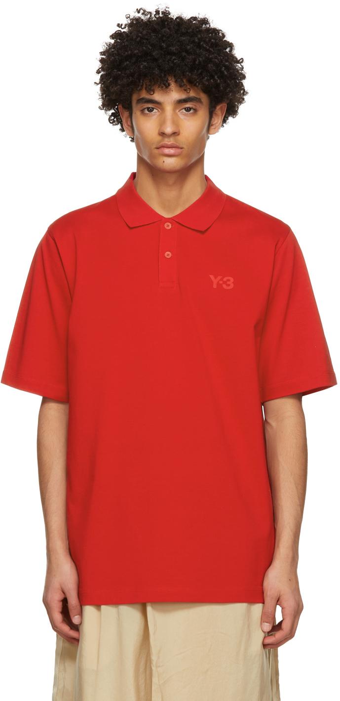 Y-3 红色 Classic Logo Polo 衫