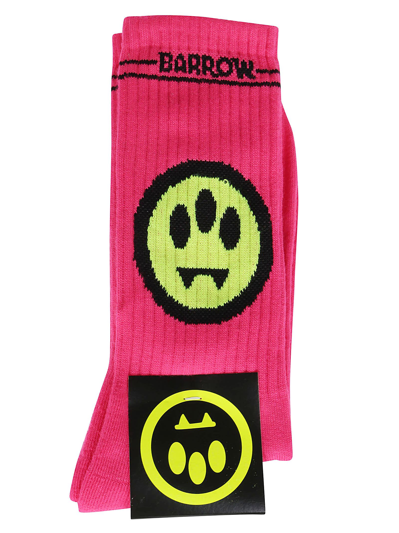 Fuchsia Cotton Socks