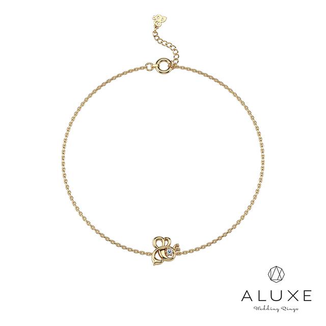 ALUXE亞立詩 小熊維尼 The Bee系列10K鑽石手鍊