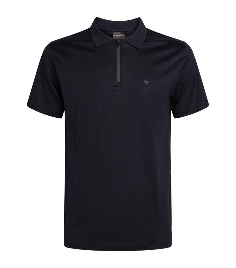 Emporio Armani Half-Zip Polo Shirt