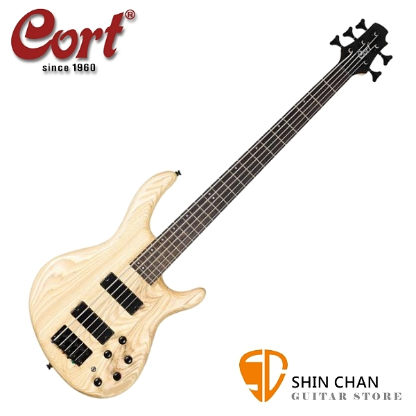 Cort Action DLX V Plus FGB 原木色 五弦電貝斯【5弦貝斯】