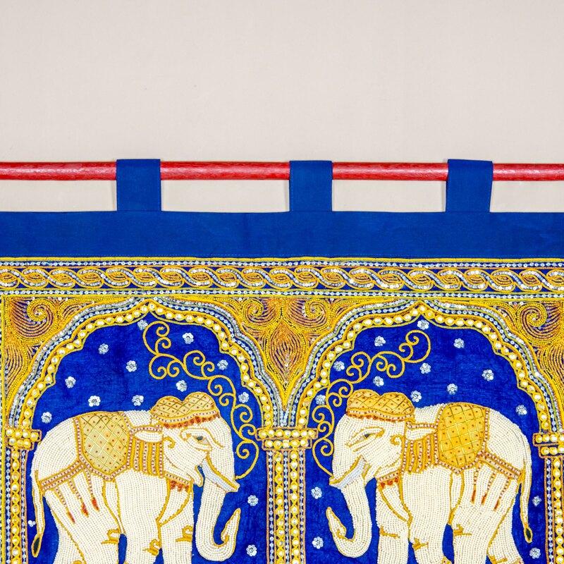 進口泰國民族風壁掛背景墻裝飾異域餐廳中式手工大象墻面掛毯壁毯