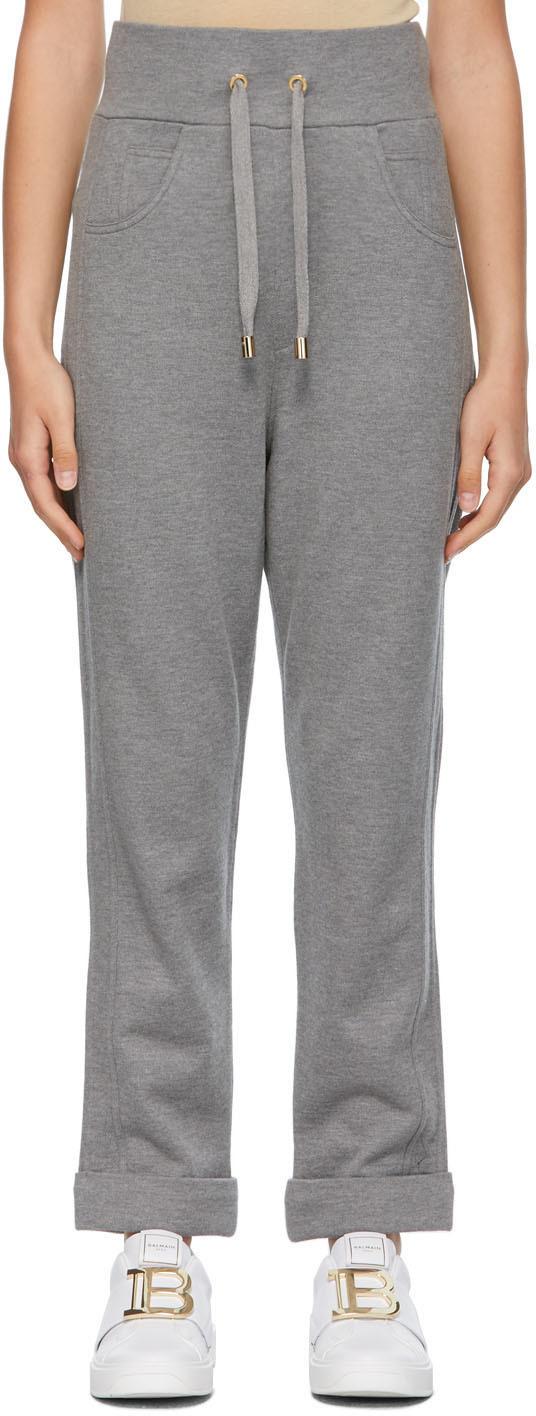 Balmain 灰色 Embossed Monogram 运动裤