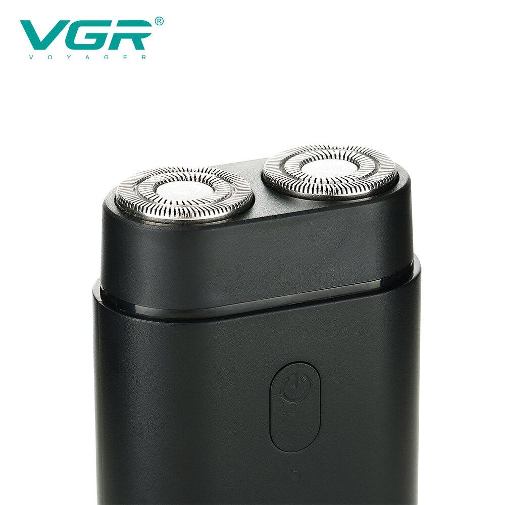 新款電動旋轉式胡須刀USB充電式刮鬍刀迷你電動剃須刀V341
