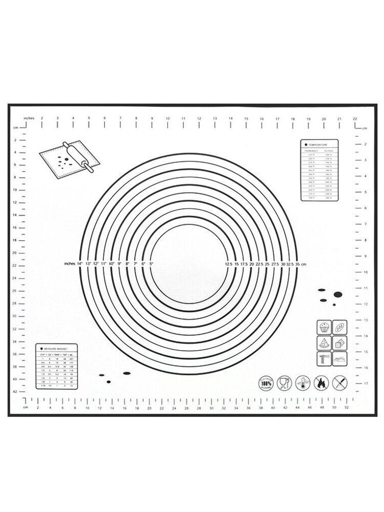 onlycook大號硅膠墊帶刻度搟面墊揉面墊子防滑家用烘培工具和面板