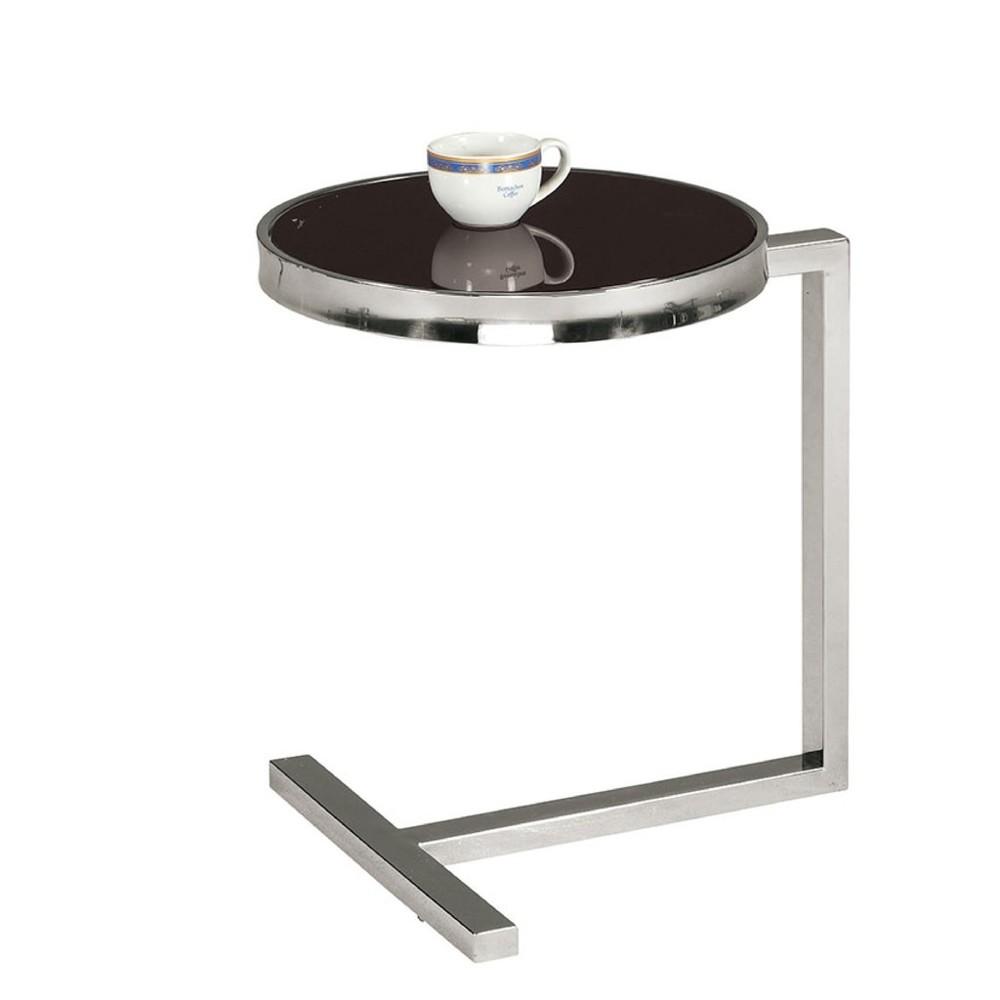40cm玻璃茶几-a338-9實木原木玻璃 大理石長方桌 大小邊几 圓桌  金滿屋